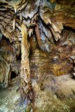 Closeup of stalactites and stalagmites Stock Images