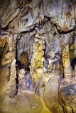 Closeup of stalagmites and stalactites Royalty Free Stock Photo