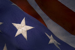 Closeup of a star on an America Flag Stock Photo