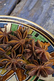 Closeup of star anise Royalty Free Stock Images