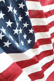 USA flag detail. Closeup of stars and stripes American flag Royalty Free Stock Photo