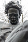 Closeup of statue of August Strindberg at Tegnerlunden in Stockholm Stock Photography