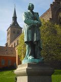 Closeup statue of fairy tale writer H. C. Andersen Royalty Free Stock Images