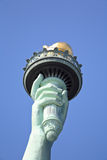 The closeup of the Statue of Liberty Stock Photo