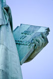 The closeup of the Statue of Liberty Royalty Free Stock Image