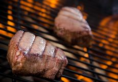 Closeup of a steak Royalty Free Stock Image