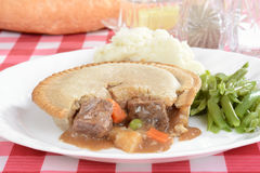 Closeup steak meat pie Royalty Free Stock Photo