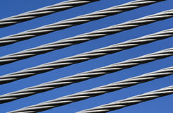 Closeup of a steel cable Stock Image