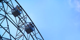 Closeup of steel ferris wheel.  Royalty Free Stock Photo