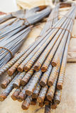 Closeup steel rods for new building Royalty Free Stock Photo