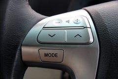 Closeup Steering wheel music control Stock Image