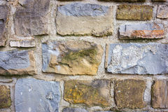 Closeup of stone block wall background Royalty Free Stock Image