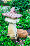Closeup stone lantern in the park. Stock Image