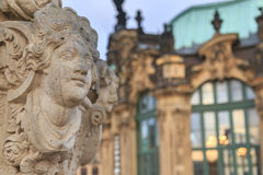 Closeup stone statue at Zwinger palace in Dresden Stock Photo