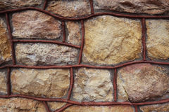Closeup of stone wall background Royalty Free Stock Photography