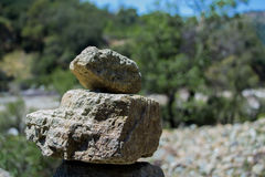 Closeup of Stones. In the forest royalty free stock photo