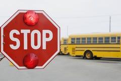 Closeup Of A Stop Sign Stock Photo