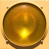 Closeup of stoplight. Royalty Free Stock Photo