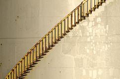 Closeup of a storage tank and stairs Royalty Free Stock Images