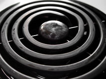 Closeup of Stove Burner Royalty Free Stock Image