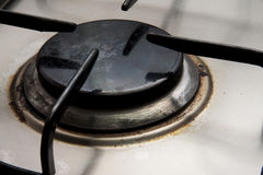 Closeup of Stove Burner Stock Photography