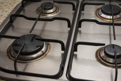 Closeup of Stove Burner Royalty Free Stock Photo