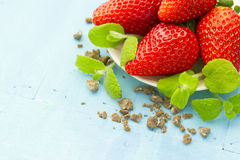 Closeup of strawberries Royalty Free Stock Photography