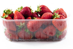 Closeup strawberries packged Stock Images