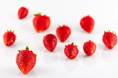 Closeup of strawberries Stock Images