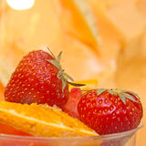 Closeup of strawberry fruit Stock Image