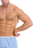 Closeup on strong abdominal muscles Stock Photography