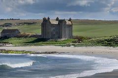 Closeup of strong house at Freswick Bay, Scotland.