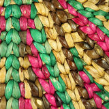 Closeup Structure of Colorful Rattan royalty free stock photo