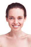 Closeup studio portrait of beauty woman Royalty Free Stock Image