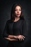 Closeup studio portrait of beauty woman Stock Image