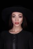 Closeup studio portrait of beauty woman Royalty Free Stock Images