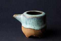 Closeup studio shot ceramic teapot Royalty Free Stock Photos
