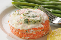 Closeup of stuffed salmon Stock Photography