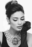 Closeup of stylish girl Stock Images