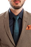 Closeup of stylish suit and tie Royalty Free Stock Images