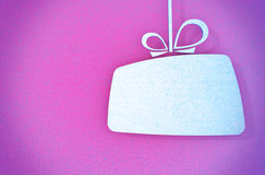 Closeup of a stylized gift card Royalty Free Stock Images