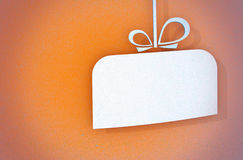 Closeup of a stylized gift card Royalty Free Stock Image