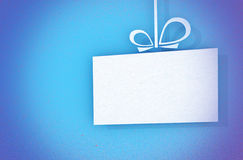 Closeup of a stylized gift card Royalty Free Stock Photos