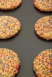 Closeup Of Sugar Cookies On Sheet Stock Photos