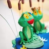 Closeup of sugar decorations stock photo