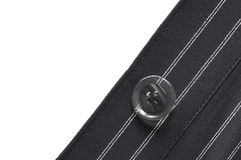 Closeup of suit button Stock Photography