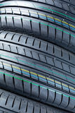 Closeup of summer car tires Stock Photography