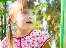 Summer portrait of a cute little girl. Closeup summer portrait of a cute little girl Stock Photography