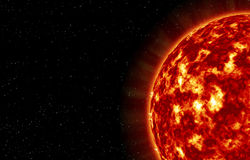 The closeup of Sun star Stock Photography