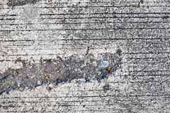 Closeup surface dirty concrete street. Background royalty free stock photography